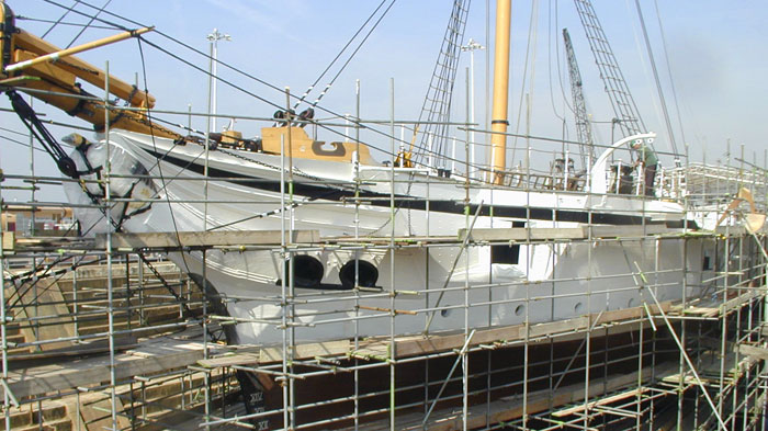 HMS Gannet off-site rebuild and restoration