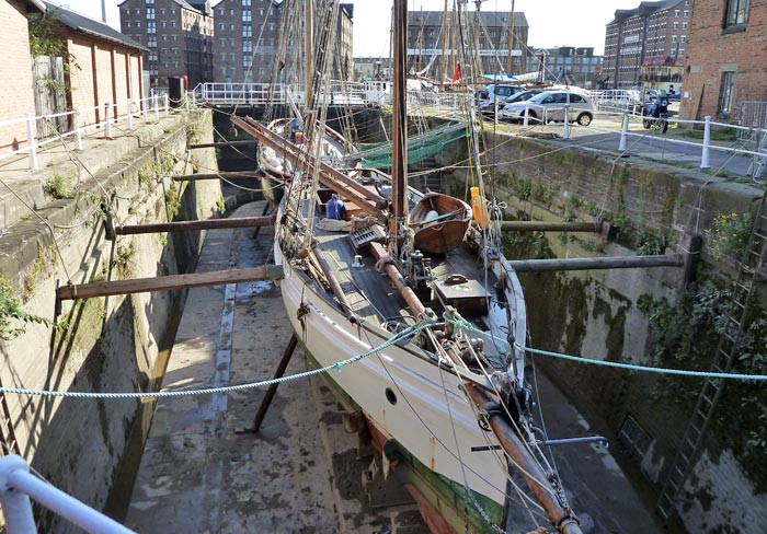 Two boats in small Dry Dock