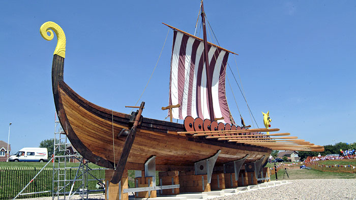 Restored Viking ship Hugin