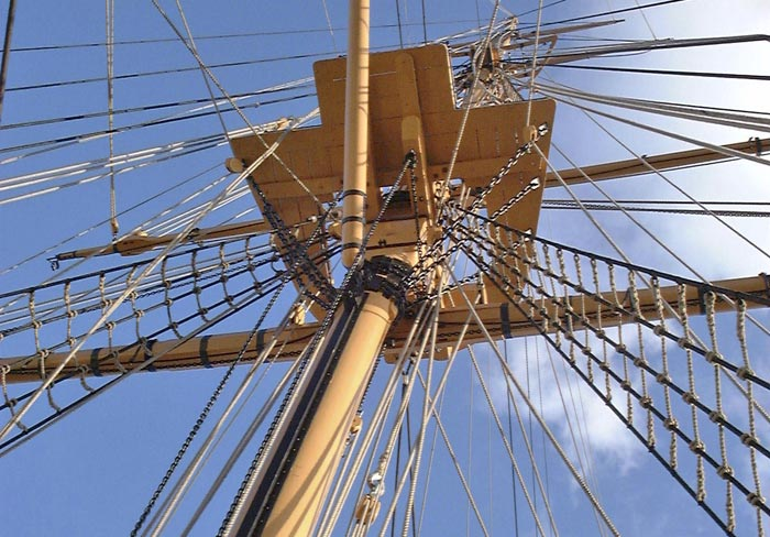 Rigging on HMS Gannet