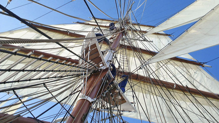 Stavros S Niarchos masts rigging and sails