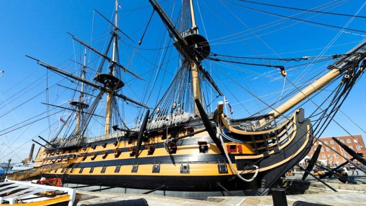 HMS Victory replanking